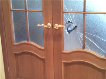 Ремонт стекла двери