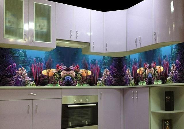 Скинали для кухни с рыбками