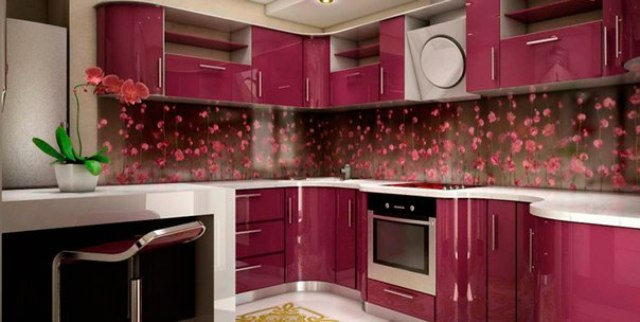 Скинали для кухни с цветами