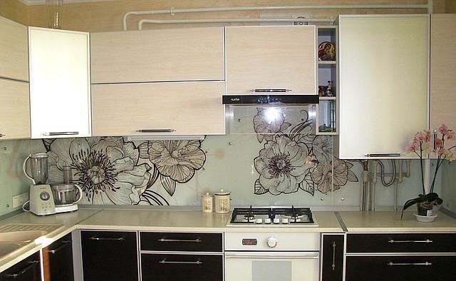Скинали - стеклянные фартуки для кухни 1