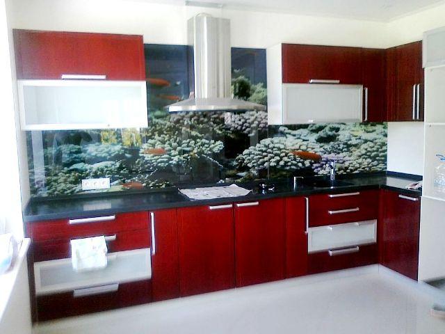 Скинали - стеклянные фартуки для кухни 12