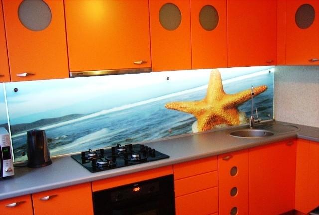 Скинали - стеклянные фартуки для кухни 9